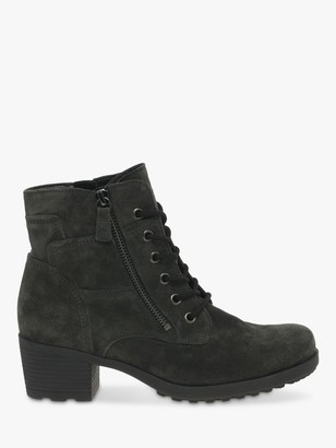 Gabor Ottavia Suede Lace Up Ankle Boots, Pepper