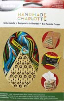 Bucilla Wood Stitchable Shapes Kit, 3 by 3-Inch, 86490 Christmas Tree