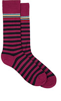 Paul Smith Men's Striped Mid-Calf Socks-PINK
