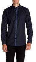 Lindbergh Long Sleeve Narrow Collar Shirt