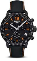 Tissot Quickster Men's Quartz Chronograph Black and Orange Dial Watch, 42mm