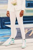 BoohoomanBoohooMAN Mens White Plain Cropped Skinny Suit Trouser, White