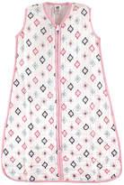 Hudson Baby Pink & Teal Geometric Sleeping Sack