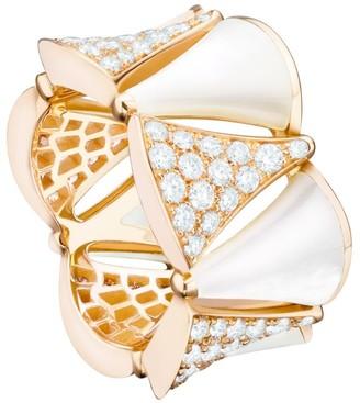Bvlgari Rose Gold Diamond and Mother-Of-Pearl Divas' Dream Ring