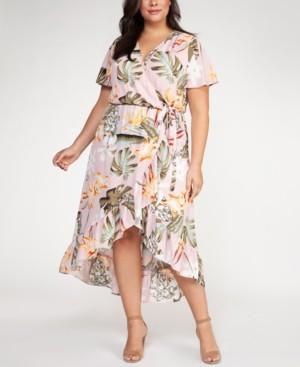 Black Tape Plus Size Floral Print Fit & Flare Dress