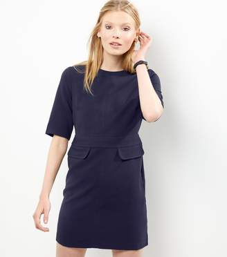 New Look Short Sleeve Double Flap Pocket A-Line Dress