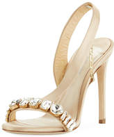 Olgana Paris Amazone Jeweled Asymmetric Slingback Sandal