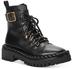 Valentino Women's Zippered Combat Boots