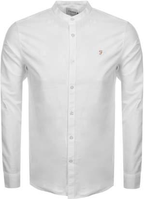 Farah Brewster Grandad Shirt White