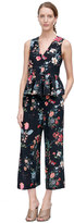 Rebecca Taylor Sleeveless Meadow Floral Top