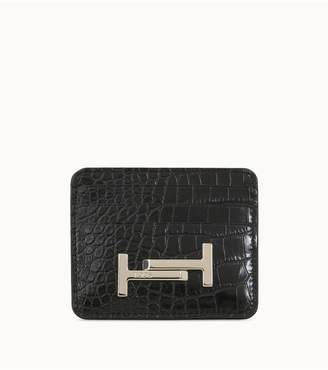 Tod's Tods Credit Card Holder In Leather