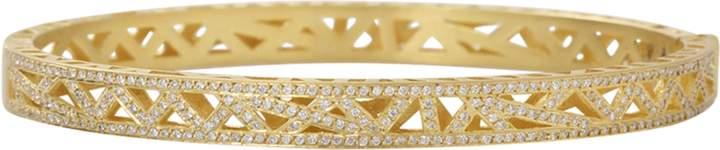 Yossi Harari Diamond Pave Lace Cuff Bracelet