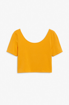 Monki Fitted crop top