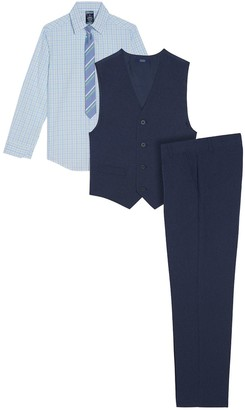 Izod Boys 8-20 Oxford Shirt, Vest & Pants Set