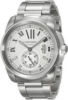 Cartier Men's W7100015 Calibre de Silver Opaline Dial Watch