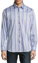 Robert Talbott Men's Casual Striped Cotton Sportshirt