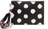 Sophia Webster Flossy Printed Leather Pouch - Black