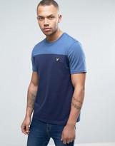 Lyle & Scott 2 Tone T-Shirt Eagle Logo Regular Fit in Blue