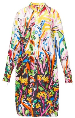 Marni Fantasia-print Poplin Shirt Dress - Multi