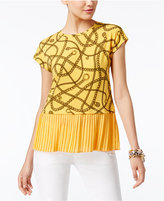 MICHAEL Michael Kors Pleated-Hem Top, a Macy's Exclusive Style