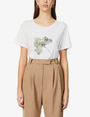 Me And Em Flower-print cotton T-shirt