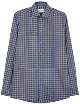 Eton Blue Checked Cotton Shirt