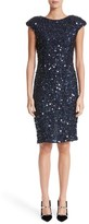 Rachel Gilbert Women's Hand Embellished Sequin Cocktail Dress