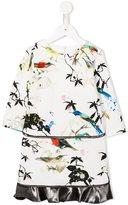 Roberto Cavalli bird print dress