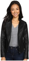 Brigitte Bailey Maude Faux Leather Jacket with Zippers