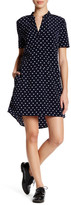 Cupcakes And Cashmere V-Neck Short Sleeve Print Dress