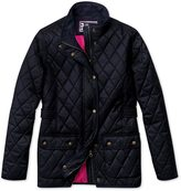 Charles Tyrwhitt Women's semi-fitted navy quilted coat