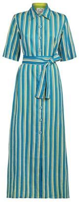 Evi Grintela Linen Sunflower Shirt Dress