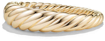 David Yurman 17mm Large Pure Form Cable Bracelet in 18K Gold, Size S