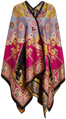 Etro Stained Glass Jacquard Cape