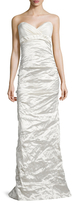 Nicole Miller Jacquard And Metal Floor Length Dress