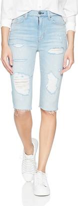 Hudson Women's Zoeey HIGH Rise Cut Off Boyfriend Shorts