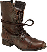 Steve Madden Troopa Military-Inspired Zipper Lace Up Leather Combat Boots