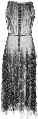 Jason Wu Collection Ruffled Polka Dot Print Dress