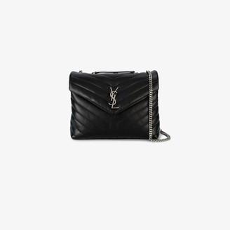 Saint Laurent black Loulou medium quilted leather shoulder bag