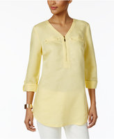 JM Collection Zipper-Front Tunic, Only at Macy's