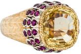 Buccellati 18K Yellow Sapphire & Ruby Cocktail Ring