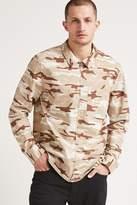 21men 21 MEN Camo Print Twill Shirt