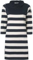 Moncler tie back striped dress - women - Cotton/Polyester - M