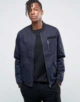 ONLY & SONS Bomber Jacket with Military Detail