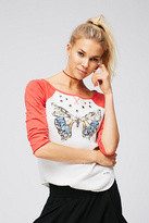 Womens BUTTERFLY KISSES TEE