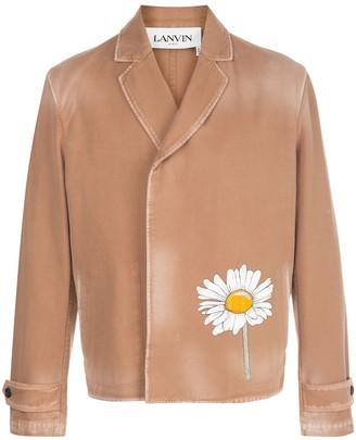 Lanvin Marguerite print double-breasted blazer