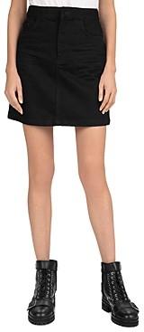 The Kooples Denim Mini Skirt in Black