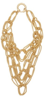 Rosantica Onore Layered Oversized Chain Link Necklace - Womens - Gold