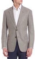 Armani Collezioni Long Sleeve Wool-Blend Sportcoat