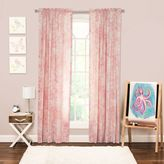 Crayola Eloise 84-Inch Rod Pocket Window Curtain Panel in Pink